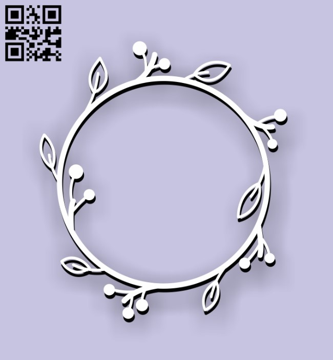 Wreath E0011198 file cdr and dxf free vector download for Laser cut