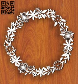 Wreath E0011202 file cdr and dxf free vector download for Laser cut