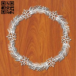 Wreath E0011285 file cdr and dxf free vector download for laser cut