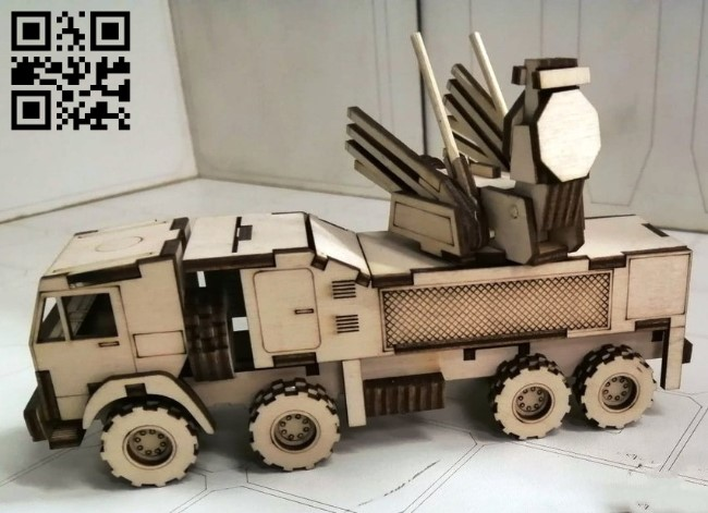 ZRPK Pantsir E0011051 file cdr and dxf free vector download for laser cut