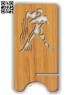 Aquarius zodiac stand E0011616 file cdr and dxf free vector download for Laser cut