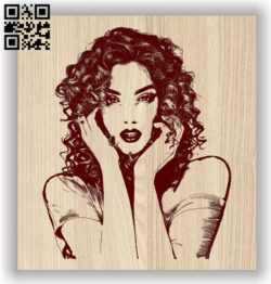 Attractive girl E0011603 file cdr and dxf free vector download for laser engraving machines