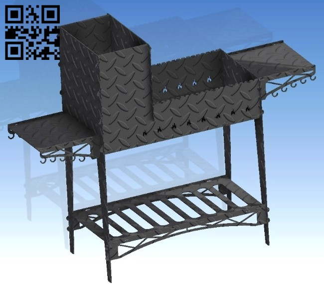 BBQ Grill E0011376 file cdr and dxf free vector download for Laser cut Plasma