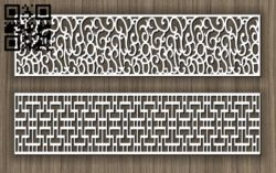 Balustrade E0011431 file cdr and dxf free vector download for Laser cut cnc
