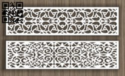 Balustrade E0011432 file cdr and dxf free vector download for Laser cut cnc