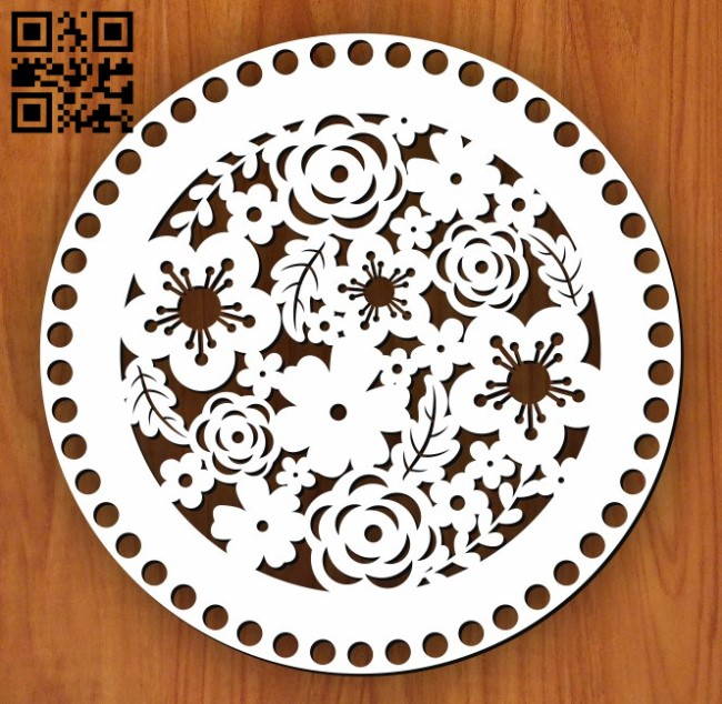 Baskets Bottom E0011552 file cdr and dxf free vector download for Laser cut