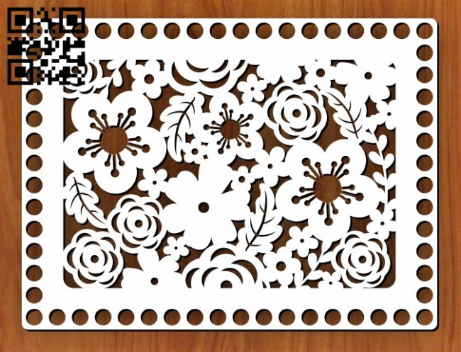 Baskets Bottom E0011553 file cdr and dxf free vector download for Laser cut