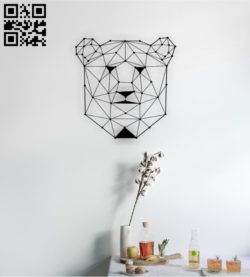 Bear head E0011393 file cdr and dxf free vector download for Laser cut