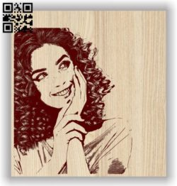 Beautiful girl E0011602 file cdr and dxf free vector download for laser engraving machines