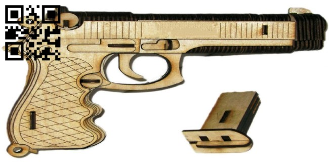 Bereta gun E0011396 file cdr and dxf free vector download for Laser cut