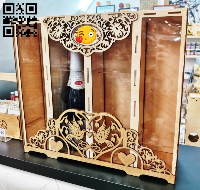 Box for 2 bottles E0011510 file cdr and dxf free vector download for Laser cut