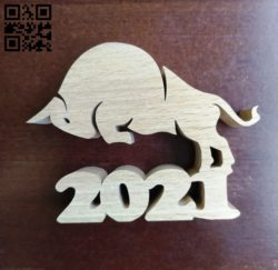 Buffalo 2021 E0011446 file cdr and dxf free vector download for cnc cut
