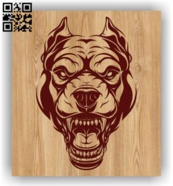 Bull dog head E0011456 file cdr and dxf free vector download for laser engraving machines