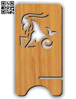 Capricorn zodiac stand E0011615 file cdr and dxf free vector download for Laser cut