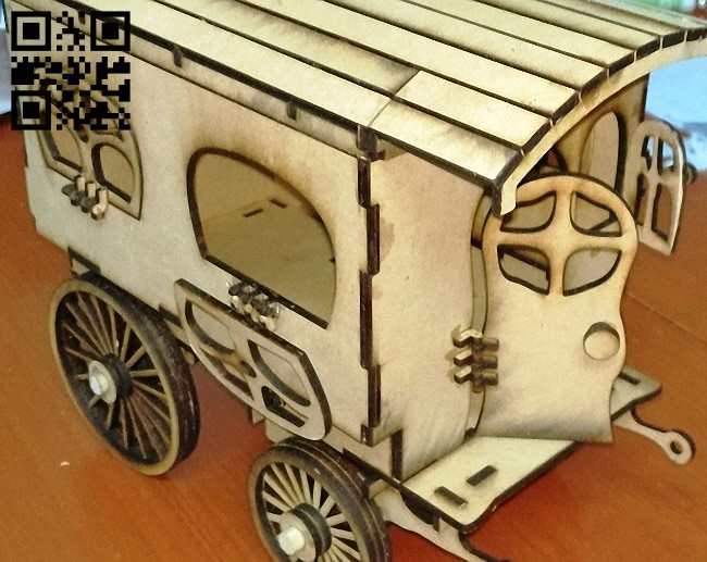 Caravan fantasy E0011420 file cdr and dxf free vector download for laser cut