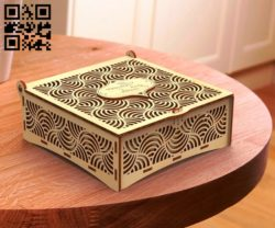 Casket Box E0011463 file cdr and dxf free vector download for Laser cut
