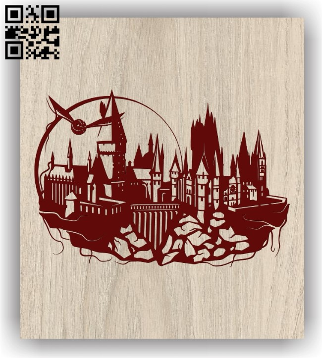 Castle E0011539 file cdr and dxf free vector download for laser engraving machines