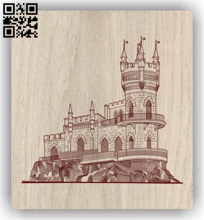 Castle E0011542 file cdr and dxf free vector download for laser engraving machines