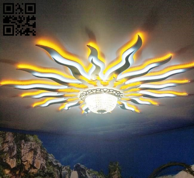 Ceiling lights E0011541 file cdr and dxf free vector download for laser cut