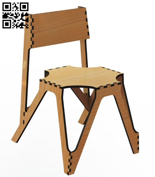 Chair E0011387 file cdr and dxf free vector download for Laser cut