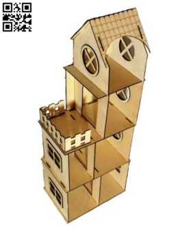 Children's dollhouse E0011519 file cdr and dxf free vector download for Laser cut