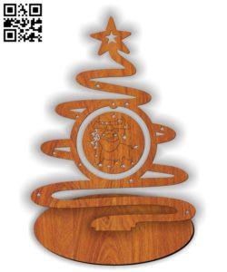 Christmas tree with 2021 symbol E0011613 file cdr and dxf free vector download for Laser cut
