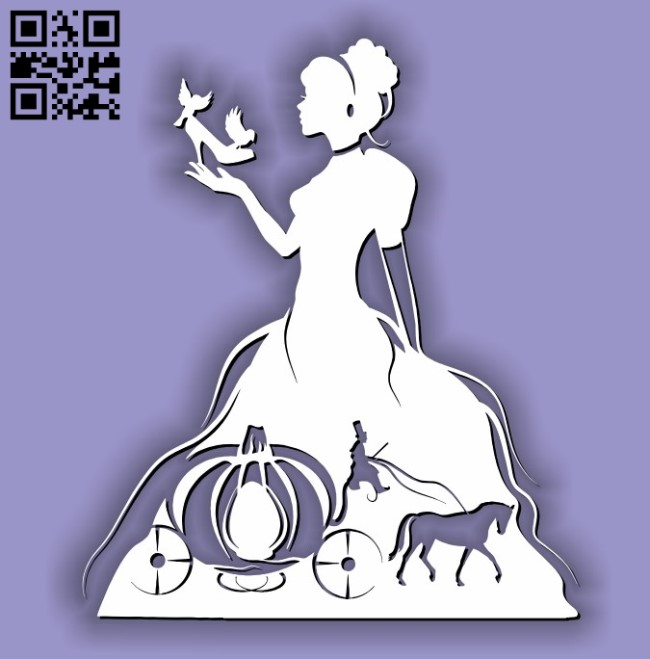 Cinderella E0011492 file cdr and dxf free vector download for laser cut