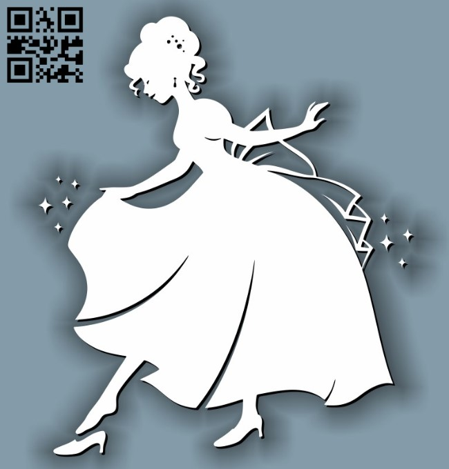 Cinderella E0011636 file cdr and dxf free vector download for laser cut
