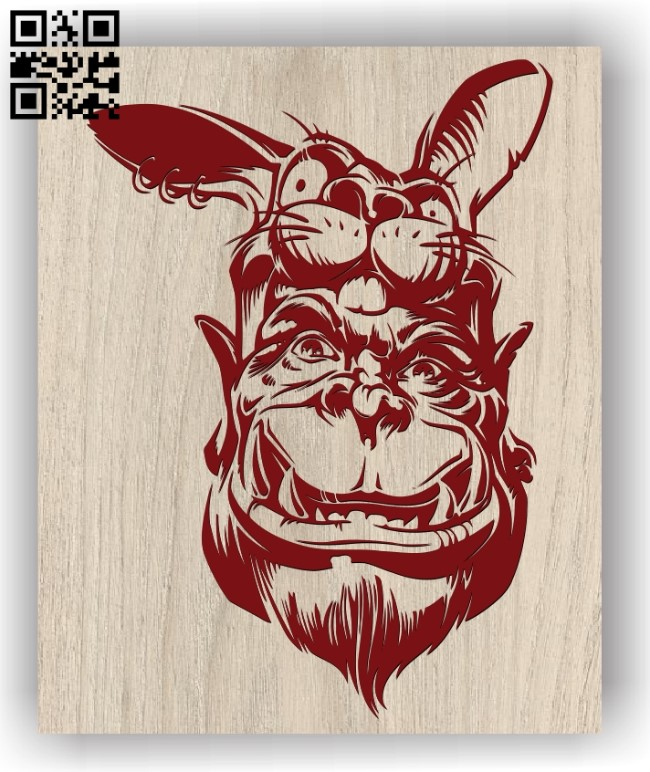 Cool goblin E0011417 file cdr and dxf free vector download for laser engraving machines