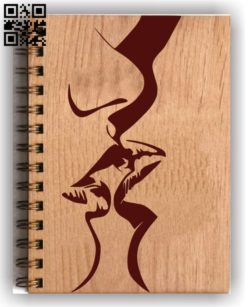 Couple decorated book cover E0011581 file cdr and dxf free vector download for laser engraving machines