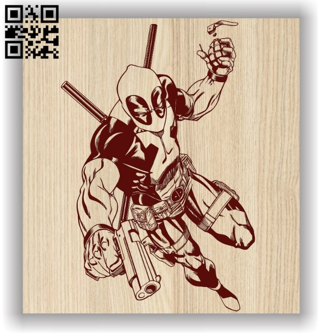 Dead pool E0011600 file cdr and dxf free vector download for laser engraving machines
