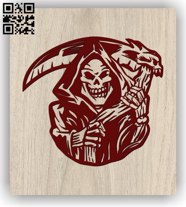 Death scythe E0011402 file cdr and dxf free vector download for laser engraving machines