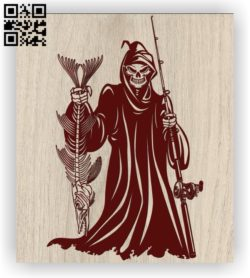 Death with fishing E0011453 file cdr and dxf free vector download for laser engraving machines