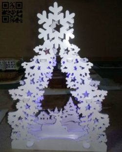 Decoration Christmas E0011557 file cdr and dxf free vector download for Laser cut