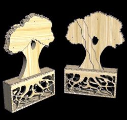 Decoration Ornamental Tree E0011569 file cdr and dxf free vector download for Laser cut