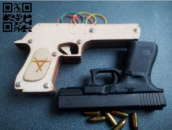Desert eagle gun E0011377 file cdr and dxf free vector download for Laser cut