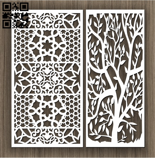 Design pattern screen panel E0011427 file cdr and dxf free vector download for Laser cut cnc
