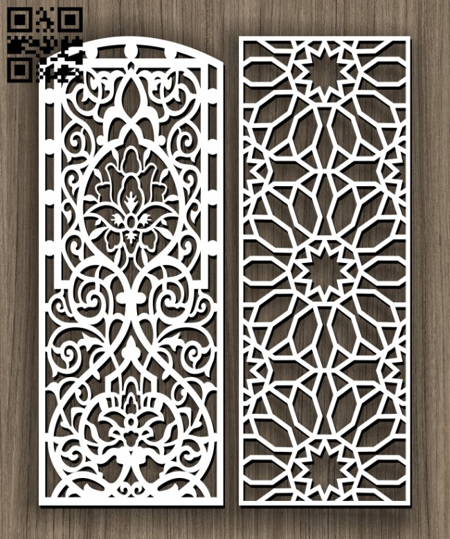 Design pattern screen panel E0011428 file cdr and dxf free vector download for Laser cut cnc