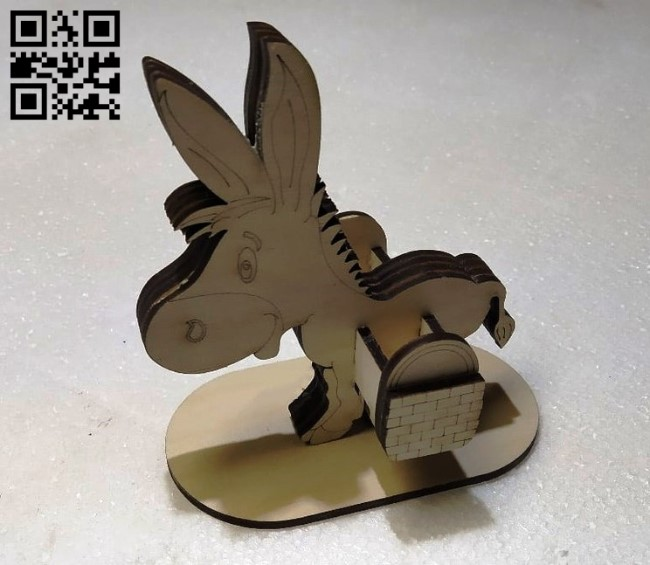 Donkey E0011563 file cdr and dxf free vector download for Laser cut