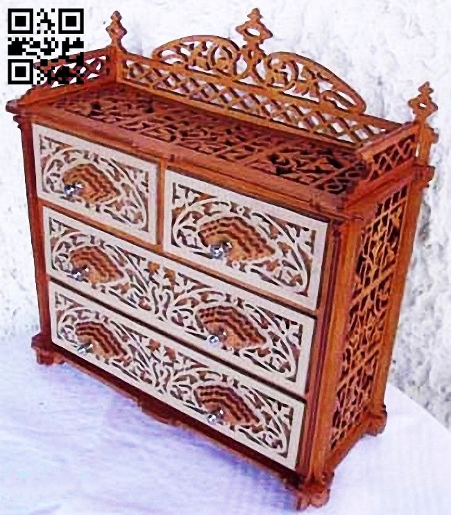 Drawer chest E0011404 file cdr and dxf free vector download for laser cut