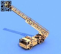 Fire truck E0011440 file cdr and dxf free vector download for Laser cut