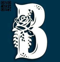 Flower B E0011513 file cdr and dxf free vector download for Laser cut