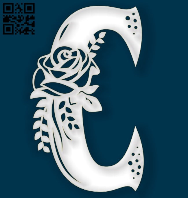 Flower C E0011514 file cdr and dxf free vector download for Laser cut