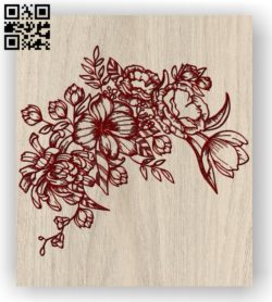 Flower E0011416 file cdr and dxf free vector download for laser engraving machines