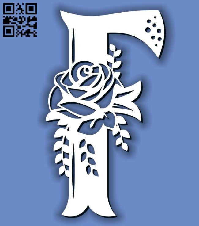Flower F E0011593 file cdr and dxf free vector download for laser cut