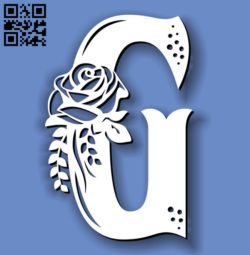 Flower G E0011594 file cdr and dxf free vector download for laser cut