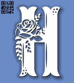 Flower H E0011595 file cdr and dxf free vector download for laser cut