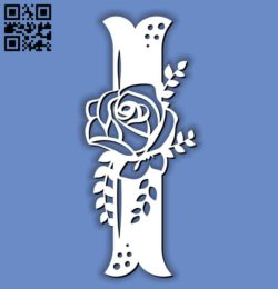 Flower I E0011596 file cdr and dxf free vector download for laser cut