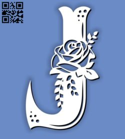 Flower J E0011597 file cdr and dxf free vector download for laser cut