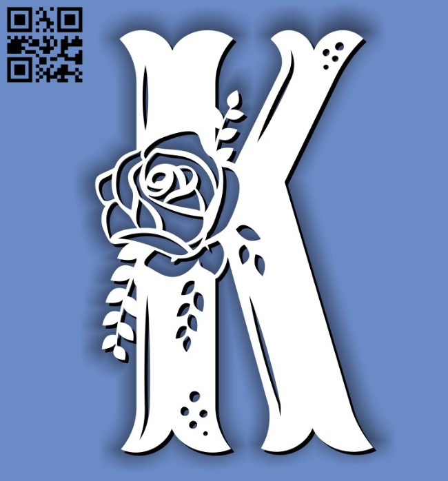 Flower K E0011598 file cdr and dxf free vector download for laser cut